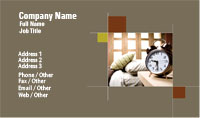Alarm Clock Business Card Template